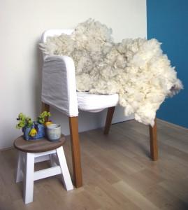 Audrey felted fleece rug