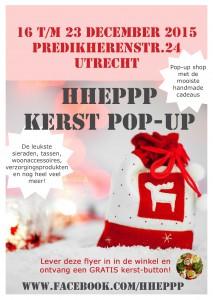 Hhepp kerst pop up Utrecht